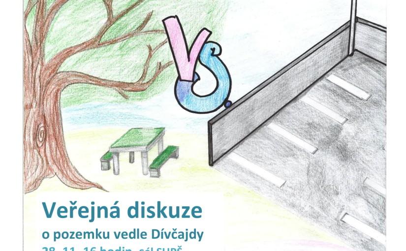 Veřejná diskuze o pozemku vedle školy 28. října